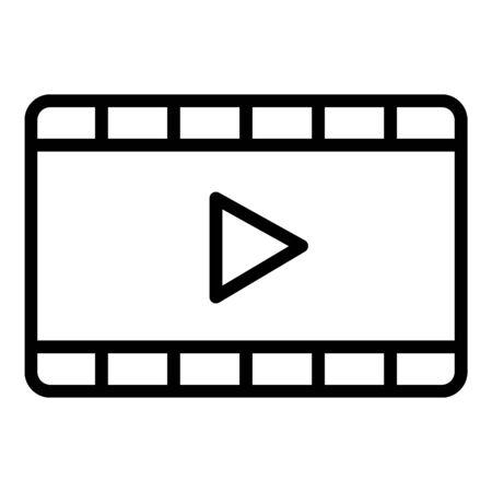 Film cinema frame icon, outline style