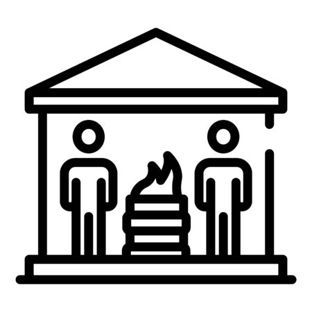 Homeless people icon, outline style