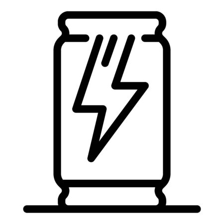 Energy drink icon, outline style