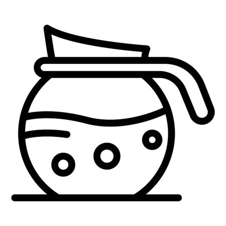Coffee jug icon, outline style Ilustrace