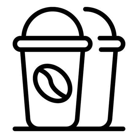 Coffee to go cup icon, outline style Illusztráció