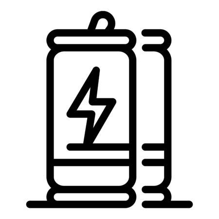 Boost energy drink icon, outline style Stok Fotoğraf - 133395562