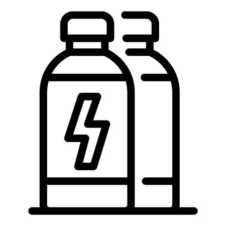 Power energy drink icon, outline style Ilustração