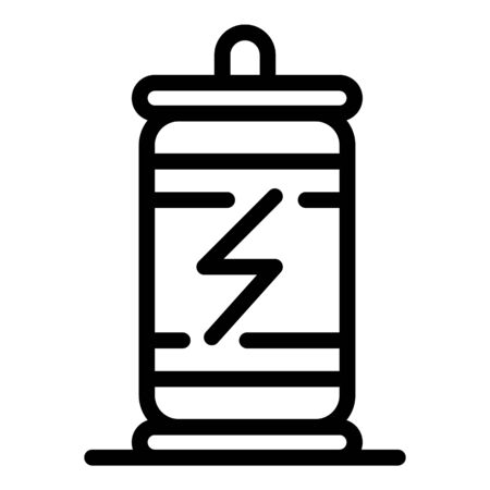 Cold energy drink icon, outline style Ilustrace
