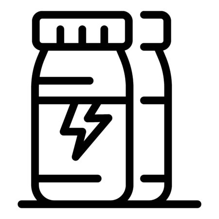 Caffeine energy drink icon, outline style