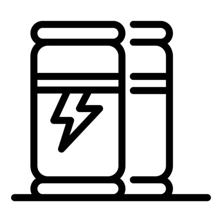Refreshment bottle drink icon, outline style