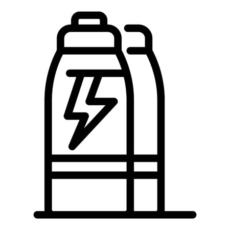 Water energy drink icon, outline style