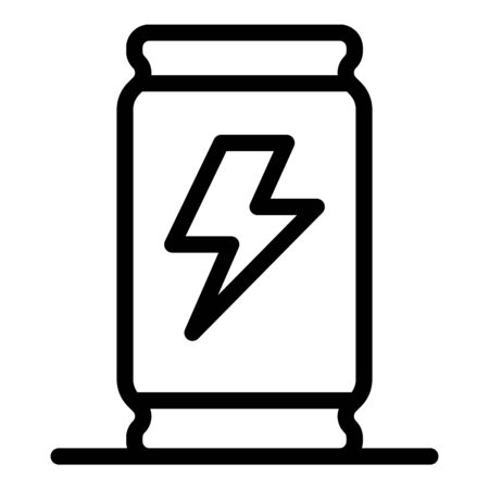 Cocktail energy drink icon, outline style Illustration