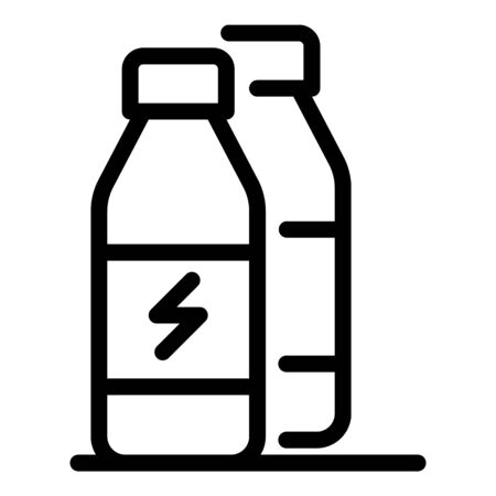Protein energy drink icon, outline style