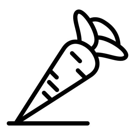 Carrot icon, outline style