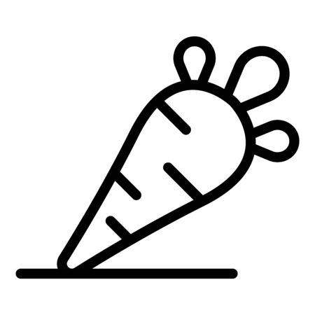 Carrot detox icon, outline style