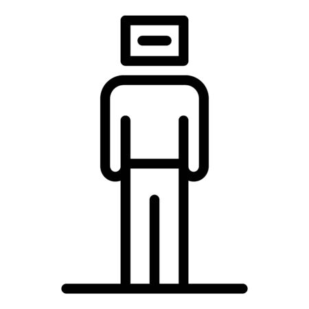 Unemployed icon, outline style