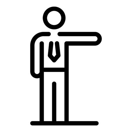 Jobless office manager icon, outline style