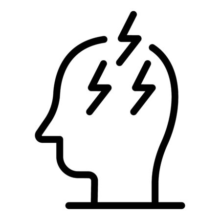 Boost energy man icon, outline style