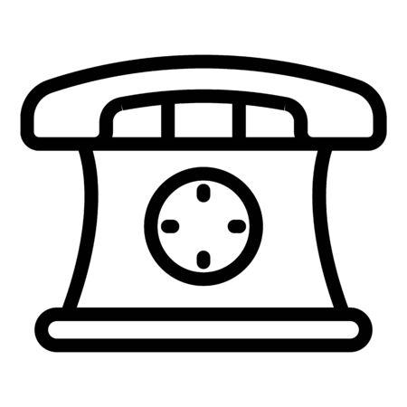 Phone hot line depression icon, outline style Ilustração