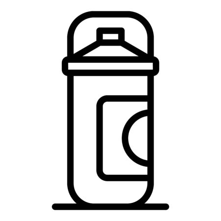 Fresh shaving foam icon, outline style Illustration