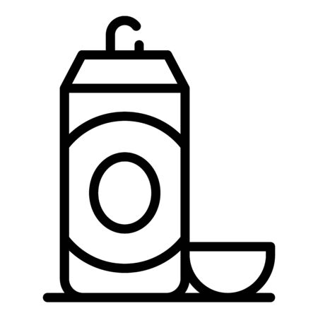 Healthy shaving foam icon, outline style Иллюстрация