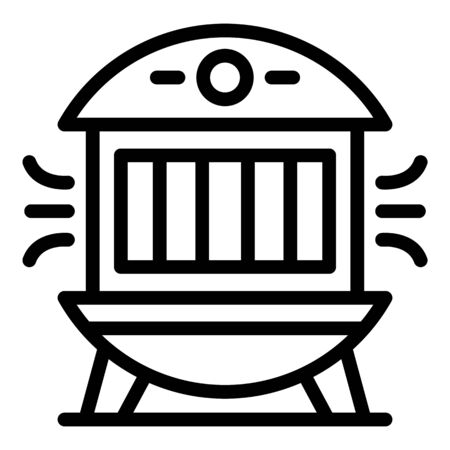 Modern air purifier icon, outline style