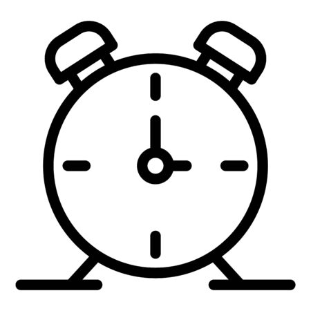 Alarm clock icon, outline style Ilustrace