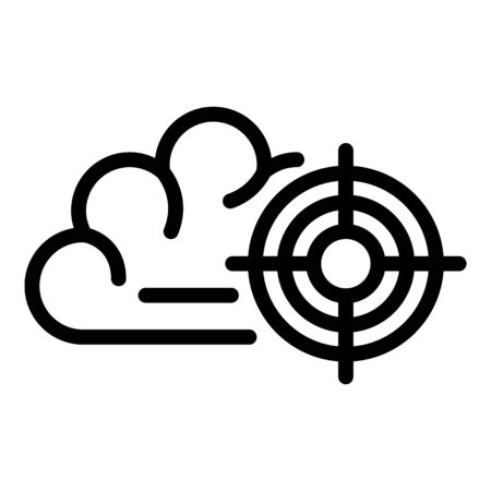 Pain location icon, outline style