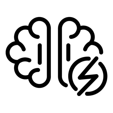 Brain boost icon, outline style