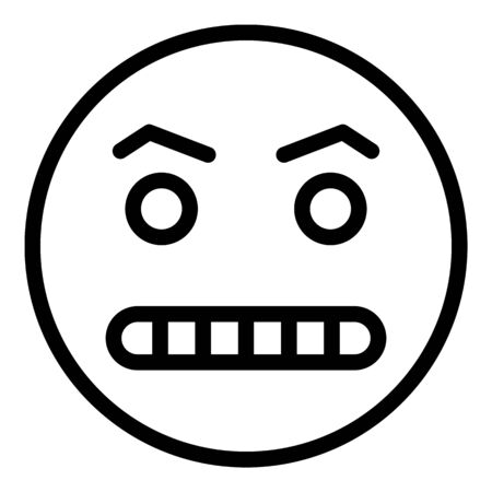 Hungry emoji icon, outline style