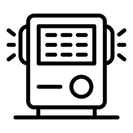 Air filtration device icon, outline style