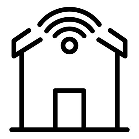 Wifi smart home icon, outline style