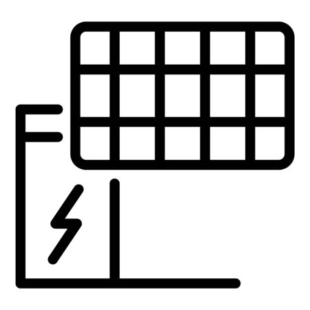 Solar panel energy icon, outline style