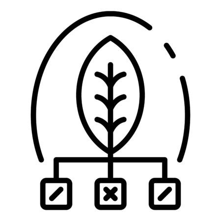 Eco leaf smart grow icon, outline style