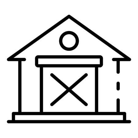 Farm building icon, outline style Vector Illustration
