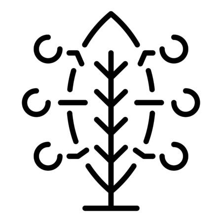 Leaf smart analize icon, outline style