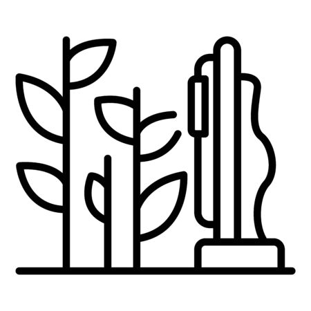 Grow plant icon, outline style Ilustrace