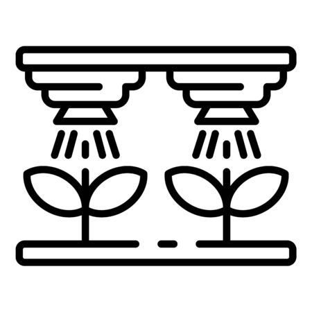 Smart farm irrigation icon, outline style 일러스트