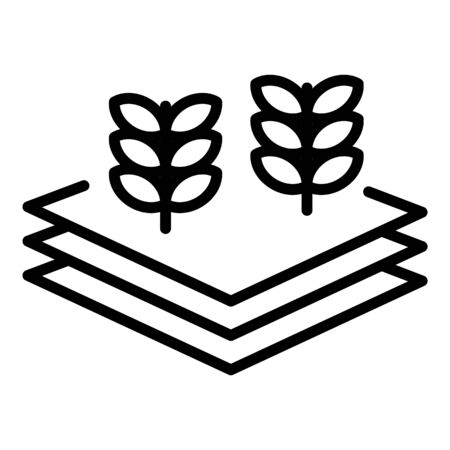 Farm plant layered icon. Outline farm plant layered vector icon for web design isolated on white background