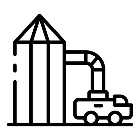 Wheat elevator icon, outline style Иллюстрация