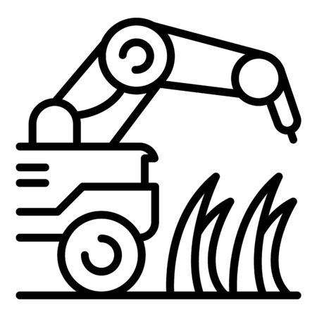 Farm plant machine icon. Outline farm plant machine vector icon for web design isolated on white background