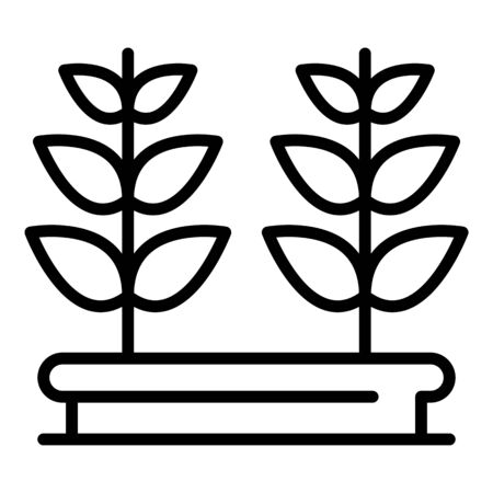 Window plant pot icon. Outline window plant pot vector icon for web design isolated on white background