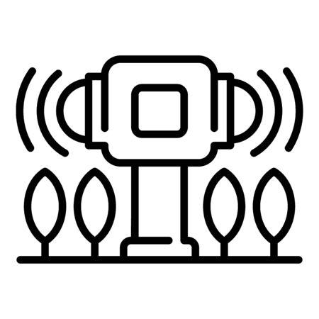 Smart farm warm control icon, outline style 일러스트