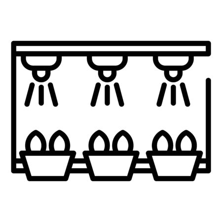 Smart irrigation rack icon. Outline smart irrigation rack vector icon for web design isolated on white background