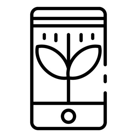 Smart control plants icon, outline style