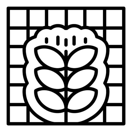 Smart control plant icon, outline style