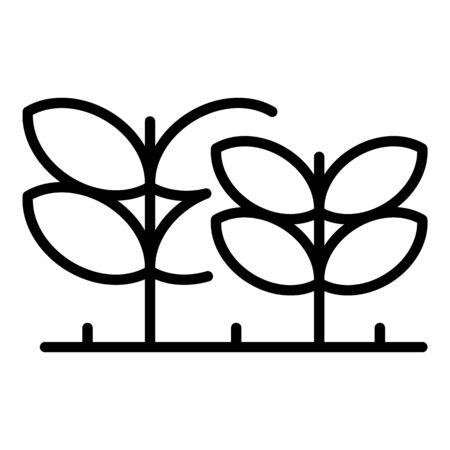 Eco plants icon, outline style