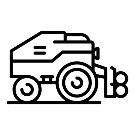 Modern harvester icon. Outline modern harvester vector icon for web design isolated on white background Illusztráció