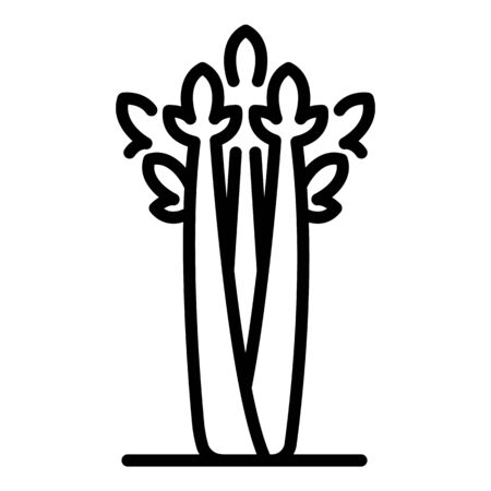 Herb celery icon, outline style Vectores