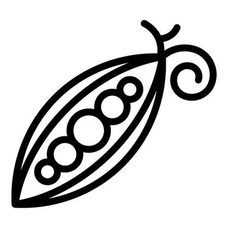 Diet peas icon, outline style Illustration