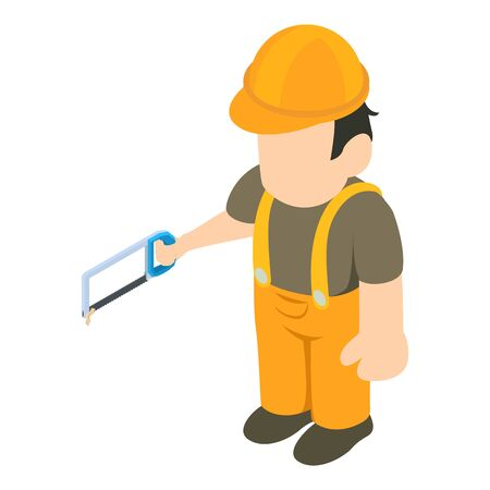 Foreman icon. Isometric illustration of foreman vector icon for web Illustration