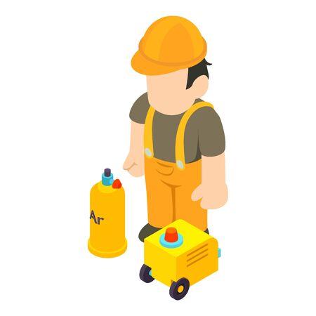 Welding specialist icon. Isometric illustration of welding specialist vector icon for web