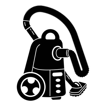 Room vacuum cleaner icon. Simple illustration of room vacuum cleaner vector icon for web design isolated on white background