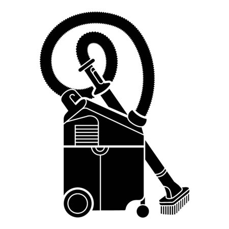 Professional vacuum cleaner icon. Simple illustration of professional vacuum cleaner vector icon for web design isolated on white background Çizim